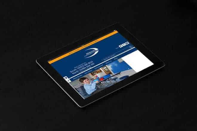DEMAND website on an iPad