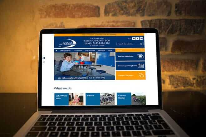 DEMAND website on a MacBook Pro