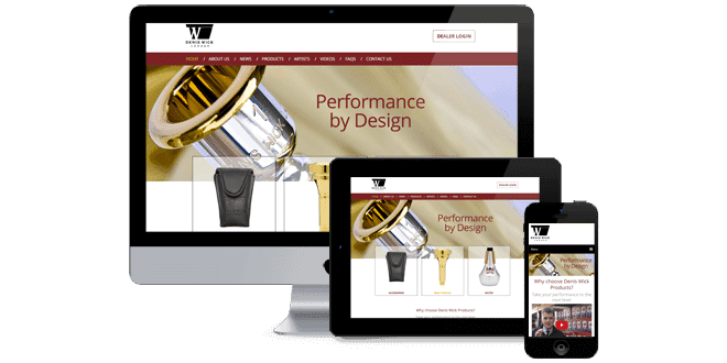 Denis Wick Products responsive site