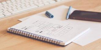 sketching website layout wireframes