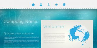 single page business website